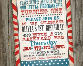 fourth of july birthday invitations thevillas co