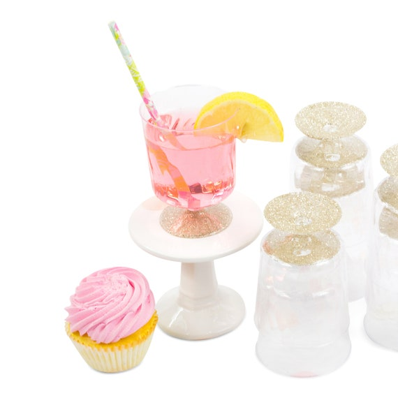 9pc White Gold Glitter Cup, Disposable Cup, Bridal Shower Drinks, Baby Shower Drinks, Plastic Cup, Table Setting, Buffet Decor, Paper Cup