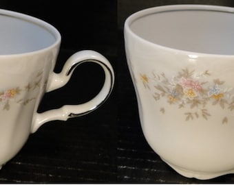 TWO Johann Haviland Floral Splendor Bavaria Cups Mugs Set of 2 EXCELLENT!
