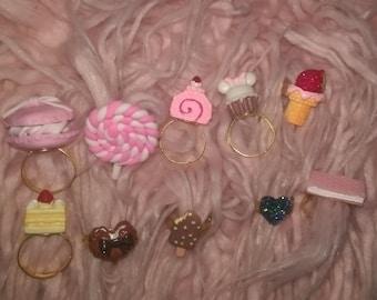 Sweet Kawaii Lolita Adjustable Handmade Ring