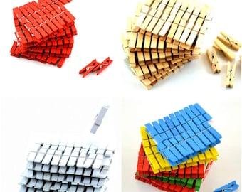Natural Wooden Clothespins 40 pcs