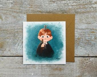 Ron Weasley postcard