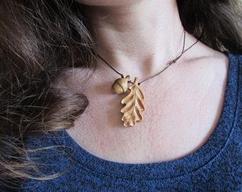 Oak leaf pendant, Acorn pendant