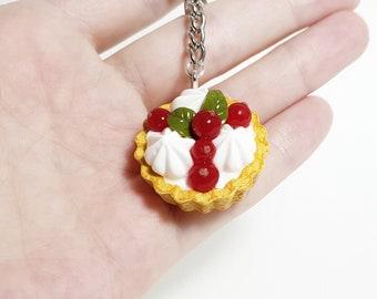 Sweet keychain Food keychain Cupcake keychains Tart keychains Miniature currant cupcake Miniature food Polymer clay currant cupcake Currants