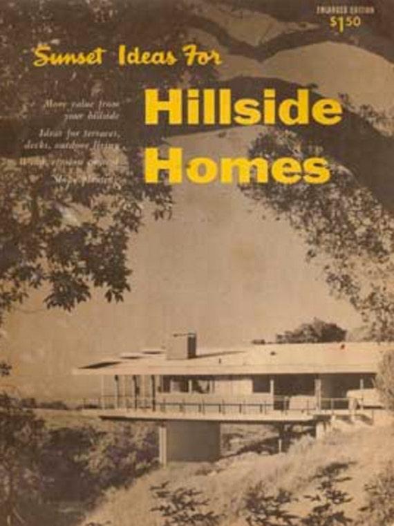 1956 Ideas For Hillside Homes Mid Century Modern House Plans