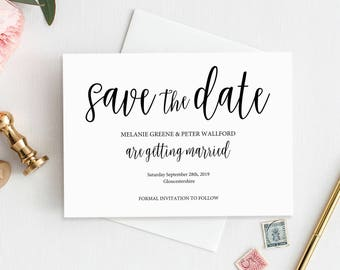 Save the Date Template, Save the Date Card, Save the Date, Save the Date Printable, Save the Date, Wedding Printable, Save our Date, MM02-1