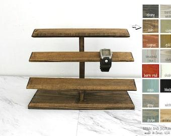Wood Watch Display, Men's and Women's Watch Stand Holder, Retail Store Fixtures, Watch Storage, Watch Organizer, Craft Show Booth Displays