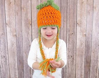 Pumpkin crochet hat, Fall crochet hat