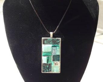 Glass mosaic pendant