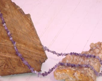 Necklace is long 43 cm Amethyst stones