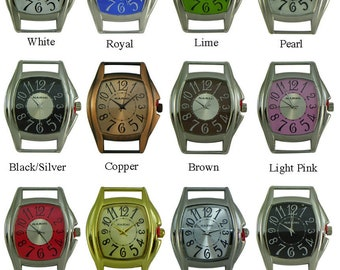 Large Solid Bar Watch Face for Interchangeable Bracelet Watches