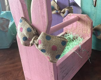 Wood easter bunny box