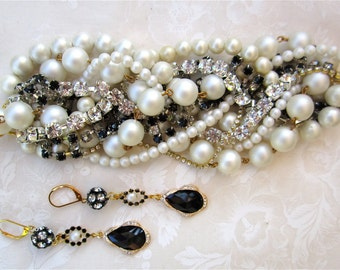 Custom Bridal Bracelet, Custom Bridal Jewelry, Custom Statement Bracelet, Made to Order Wedding Jewelry, Made to Order Bridal Jewelry