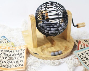 Bingo Cage and Numbered Balls, Vintage Game