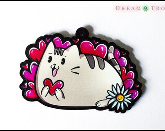Pusheen Keychain, Internet Meme, Cartoon, Cat, Funny, Cute, Kawaii, Screwball, 1930s Cartoon, Inspired