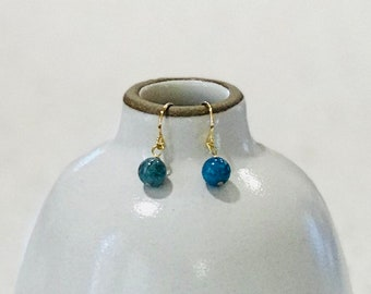 Blue Apatite Earrings - Gold or Silver