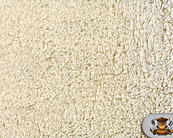 "Minky SHERPA Ivory Fabric / 60"" Wide / Sold By the yard"