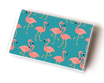 Vinyl Card Holder - Tropical Summer1 / fruit, pineapple, card case, vinyl wallet, women's wallet, small, pretty, handmade, flamingo, summer