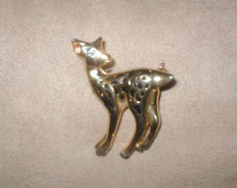 Vintage Deer PIn Brooch
