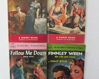 1950s PULP FICTION books Couple on the Cover Signet Books