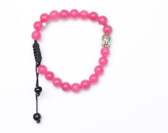 Buddha head beads bracelet
