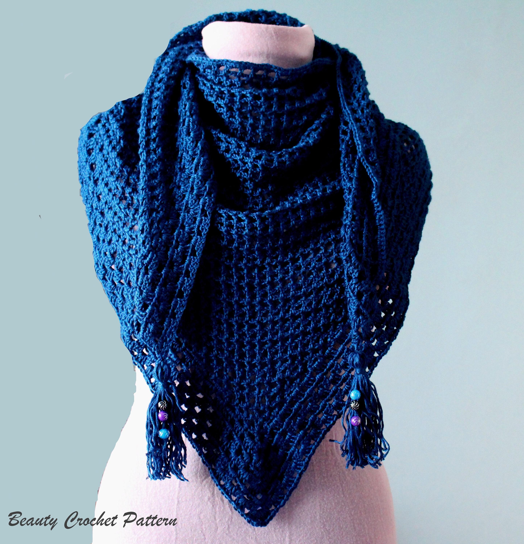 Shawl Crochet Pattern, Scarf Crochet Pattern, Lace Shawl Pattern ...