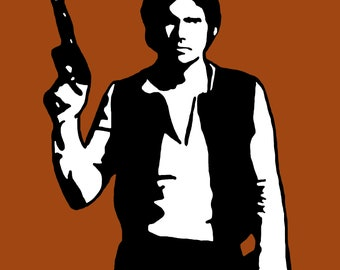 Han Solo as portrayed by Harrison Ford Art Print