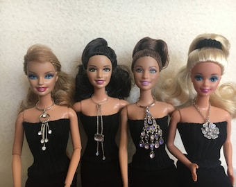 Barbie Doll Clothes, Barbie Doll Necklaces, Barbie Jewelry, Fashion Doll Jewelry, Doll Necklace, OOAK Jewelry, Doll Accessories