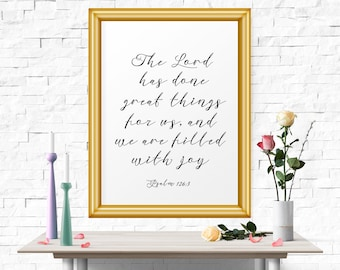 Typography Poster, The Lord Has Done Great Things.. Typography Art, Typography Print, Home Decor, Inspirational Quote