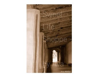 California Dreaming - Sepia Print - Hallway and Open Doors - Home or Office Decor - Gift for boy or girl - House Gift