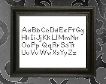 AlphaOne -  a Cross-Stitch Alphabet Pattern