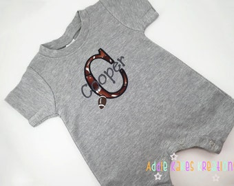 Football Baby Creeper - Personalized Football Romper - Infant Football Creeper - Football One Piece - Football Take Home Outfit
