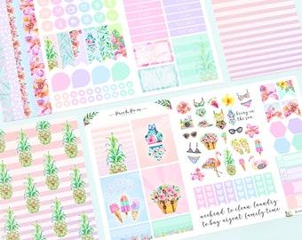 Summer - Traveler's Notebook Pocket Planner Stickers