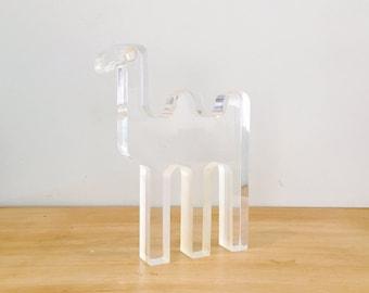Mid Century Modern Team Guzzini Lucite Camel Sculpture