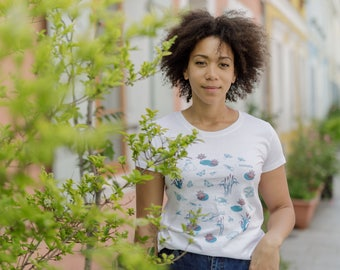 Organic beetle women cotton T-shirt
