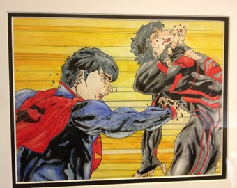 Subliminal - A Watercolor Painting from the pages of Superboy 0