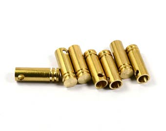 5 Pcs. Solid Brass  6x20  mm Bolo Tips Cord End , İnside Diameter 4.5 mm