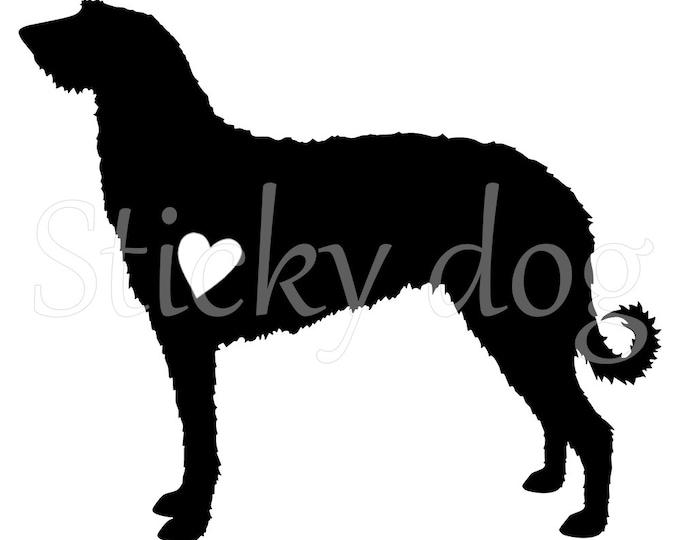 Scottish Deerhound silhouette sticker