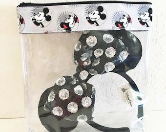 Medium Smiling Mickey and Minnie / disney / disney ears / minnie mouse ears / disney bag / disneyland / disney world / mickey mouse