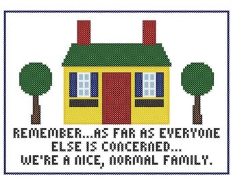 A Nice, Normal Family - Original Cross Stitch Chart