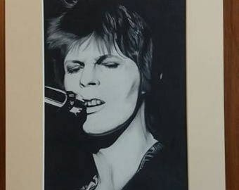 David Bowie 16x12 Hand Signed Limited print