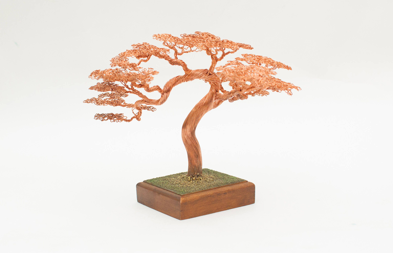 Bonsai Tree Wire Copper Sculpture Home Decor Wedding Cake Topper Wiring A Zoom