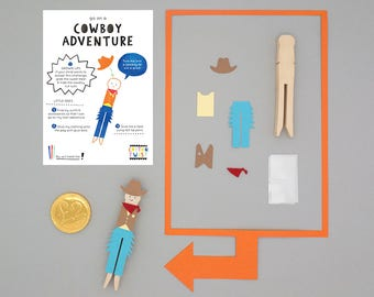 Make Your Own Cowboy Peg Doll Kits - Perfect for Party Bags