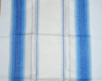 Fab  Vintage Blue Striped Kitchen Towels-Never Used
