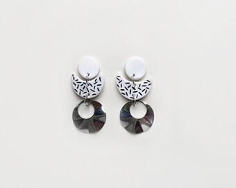 GEO earrings / statement, long, bohemian, tassel