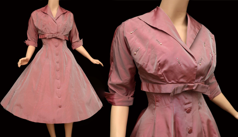 50s Taffeta Vintage Dresses