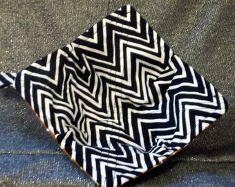 Microwaveable Bowl Cozy Reversible, Zebra/Giraffe Print