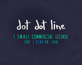 1 Small COMMERCIAL USE LICENSE ** Small reproduction 1 year / -500**