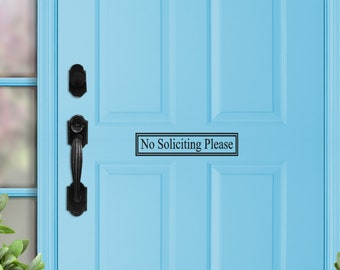 No Soliciting Decal Door Decal Sign Office Door Decals Front Porch House Door Decor Solicitation signs business window stickers