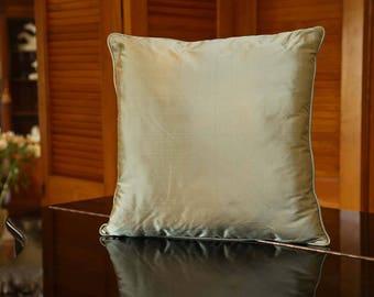 Decorative silk pillow